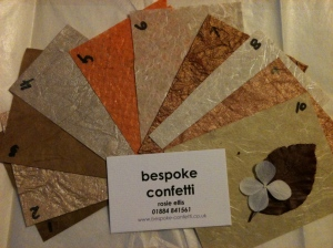 Bespoke, confetti, cones, luxury, designer, customised